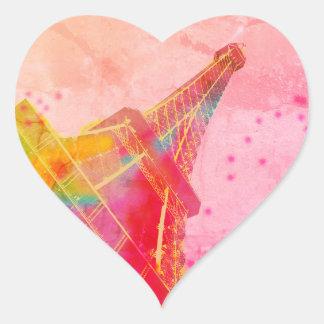 Self-adhesive heart Eiffel Tower Heart Sticker