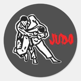 self-adhesive judo Harai goshi Classic Round Sticker