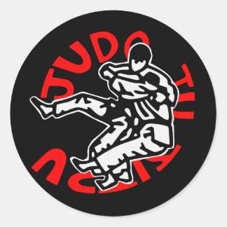 self-adhesive judo ji jitsu classic round sticker