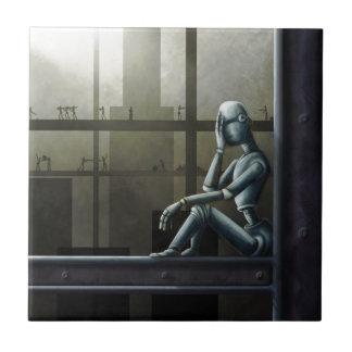 self aware robot scifi tiles
