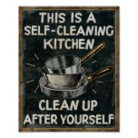 Self Cleaning Kitchen Poster