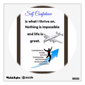 Self confidence quotes, confidence postcards wall sticker