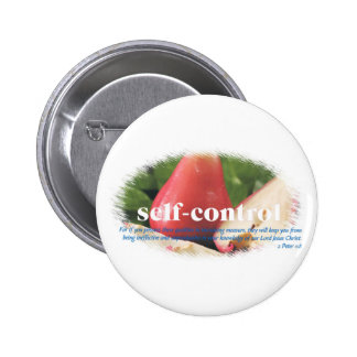 Self Control 2 Inch Round Button