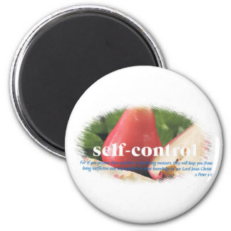 Self Control 2 Inch Round Magnet