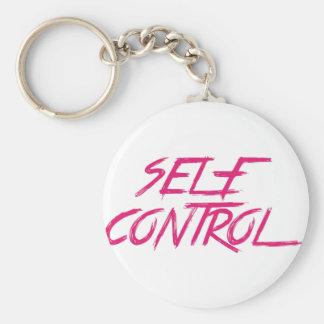 SELF CONTROL BASIC ROUND BUTTON KEYCHAIN