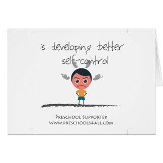 Self Control Boy Greeting Card