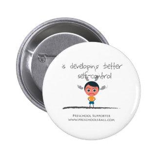 Self Control Boy Pinback Buttons