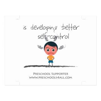 Self Control Boy Postcard
