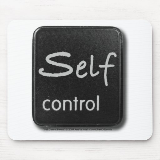 Self Control Button Mousepad
