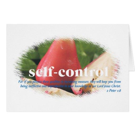 Self Control Greeting Card