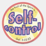 Self-Control Fruit of the Spirit Spots Sticker
