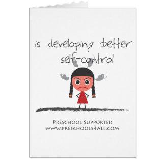 Self Control Girl Greeting Card