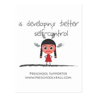 Self Control Girl Postcard