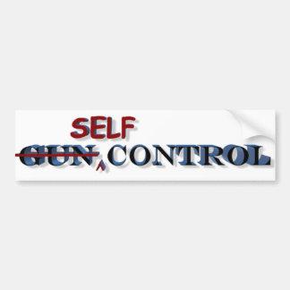 Self-Control Over Gun Control Bumper Sticker