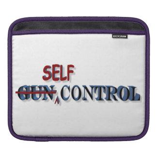 Self-Control Over Gun Control iPad Sleeve