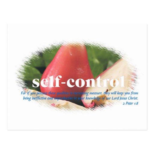 Self Control Post Card