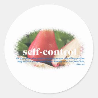 Self Control Round Sticker