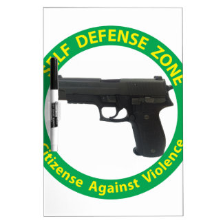 Self Defense Zone-Violence Dry-Erase Whiteboards