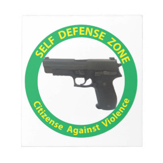 Self Defense Zone-Violence Notepads