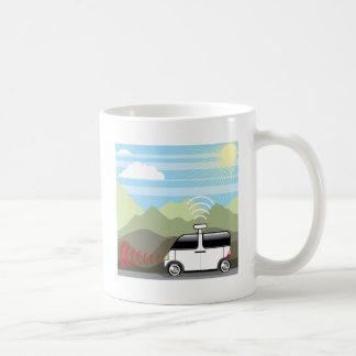 Self-driving car. Driverless car. Coffee Mug