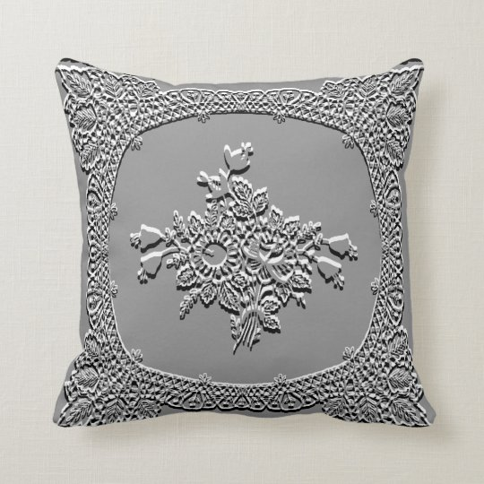 Self Embossed Throw Pillow
