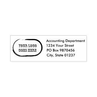 Self Inking  Logo Return 3 Address Lines Stamp