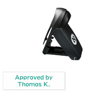 Self Inking Pocket Stamp Custom Approved By Text