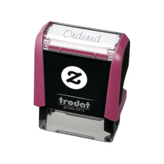 Self Inking Rubber Stamp for Wedding Plans