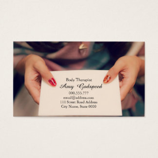 Self introduction card foppery of woman