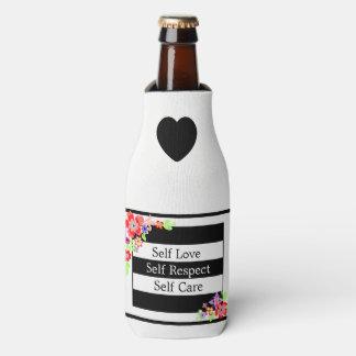 """""""Self Love"""" Gorgeous Floral Bottle Cooler. Bottle Cooler"""