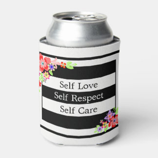 """""""Self Love"""" Gorgeous Floral Can Cooler. Can Cooler"""