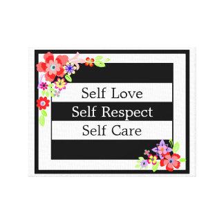 """""""Self Love"""" Gorgeous Floral Canvas. Canvas Print"""