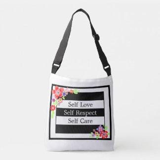 """Self Love"" Gorgeous Floral Cross Body Bag. Crossbody Bag"