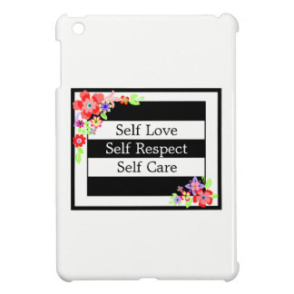 """Self Love"" Gorgeous Floral iPad Case. iPad Mini Cover"