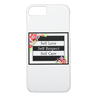 """Self Love"" Gorgeous Floral iPhone Case. iPhone 8/7 Case"