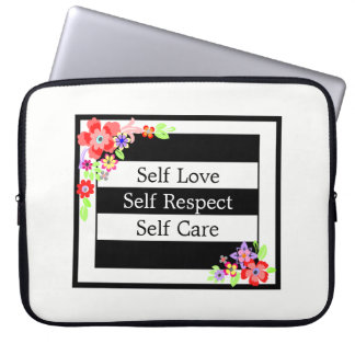 """Self Love"" Gorgeous Floral Laptop Sleeve. Laptop Sleeve"