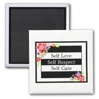 """Self Love"" Gorgeous Floral Magnet. Magnet"