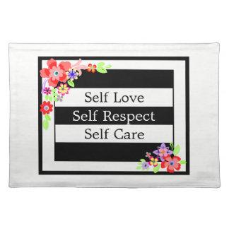 """""""Self Love"""" Gorgeous Floral Place mats. Place Mats"""
