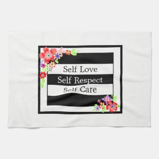"""Self Love"" Gorgeous Floral Tea Towel"