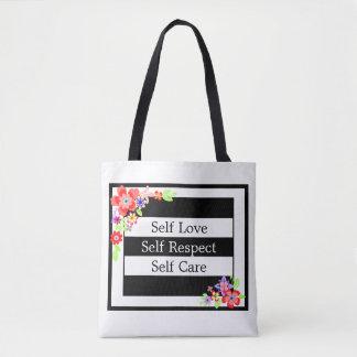 """Self Love"" Gorgeous Floral Tote Bag."