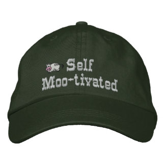 Self Motivated Cow Embroidered Hat