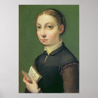 Self portrait, 1554 poster