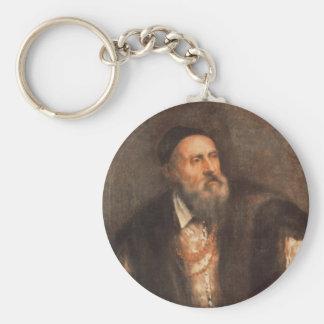 Self Portrait 1562 Basic Round Button Keychain