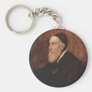 Self Portrait 1567 Basic Round Button Keychain