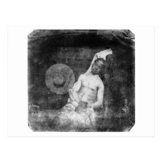 Self Portrait as a Drowned Man ~ 1840 Postcard
