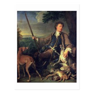 Self Portrait as a Hunter, 1699 (oil on canvas) Postcard