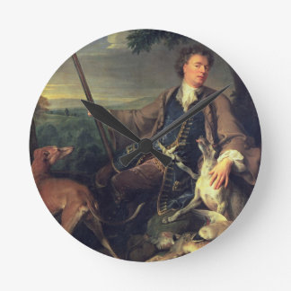 Self Portrait as a Hunter, 1699 (oil on canvas) Wallclock