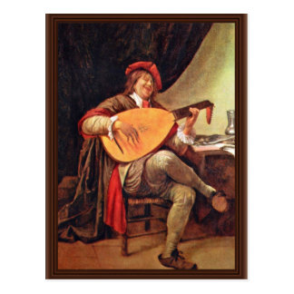 Self-Portrait As A Violin Player By Steen Jan (Bes Postcard
