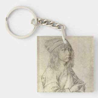 Self Portrait at Age 13 by Albrecht Durer Keychain