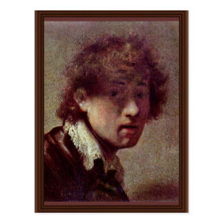 Self Portrait At An Early Age. By Rembrandt Van Postcard